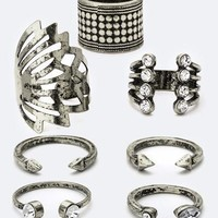 7PC Antique Finish Boho Ring SET