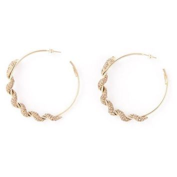 DCCKIN3 Roberto Cavalli pav¨¦ snake hoop earrings