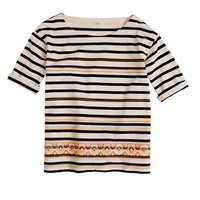 Stitchwork stripe top - short-sleeve tees - Women's knits & tees - J.Crew