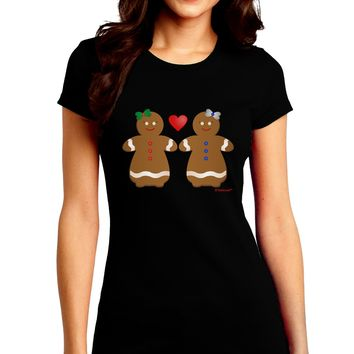 Gingerbread Woman Couple Juniors Crew Dark T-Shirt by TooLoud