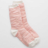 Aerie Cable Knit Crew Socks , Fuchsia Pink