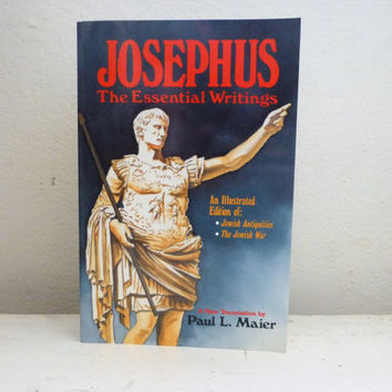 Josephus the Essential Writings, history book, religious history, reference book, education, historian writings, paperback book, illustrated