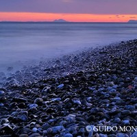 """Shiny rocks"" At pink sunset. Spain, Gibraltar and Africa in one photo. by Guido Montañés"