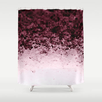 Eggplant Purple Crystals Ombre Shower Curtain by 2sweet4words Designs