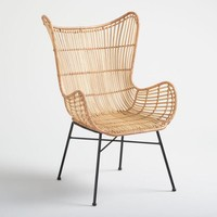 Natural Rattan Willis Wingback Chair