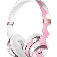 Shades of Pink Quatrefoil Full-Body Skin Kit for the Beats by Dre Solo 3 Wireless Headphones