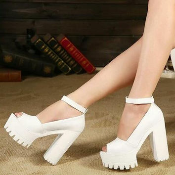 new women's summer shoes gauze open toe sandals platform shoes thick heel high heels women casual shoes