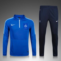 KUYOU France Euro 2016/17 Blue Men Tracksuit Slim Fit