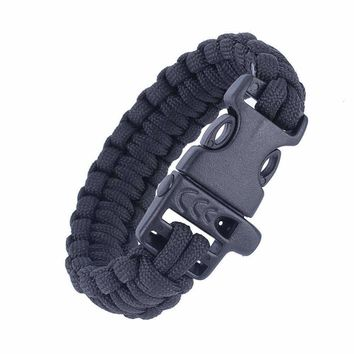 Paracord Survival Bracelets Outdoor Camping Rescue Rope Bracelets For Camping Hiking Paracord Lifesaving Travel Kits Accessories