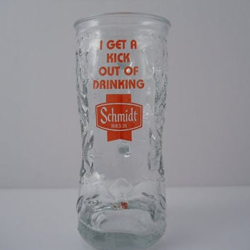 Beer Boot Glass ACL Schmidt Beer Western Boot Mug Rare c 1960s