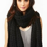 Jasper Knit Scarf - Black