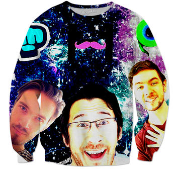 Pewdiepie, markiplier and, jacksepticeye
