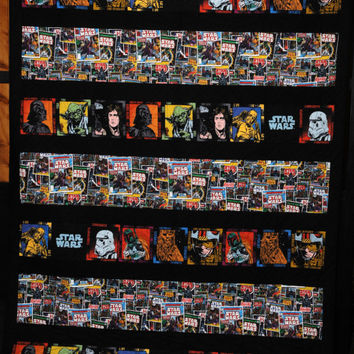 STAR WARS Custom Comic Quilt TWIN 63x82