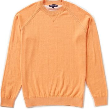 Roundtree & Yorke Plaited Crew Pullover Sweater | Dillards