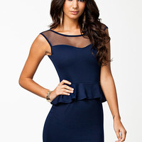 Gina Peplum Dress - Club L - Navy - Party Dresses - Clothing - Women - Nelly.com