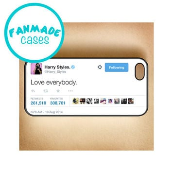 Love everybody Tweet iPhone 4/4s/5/5s/5c/6/6 Plus, iPod 4/5, Samsung Galaxy s4/s5 Rubber Case by FanMadeCases