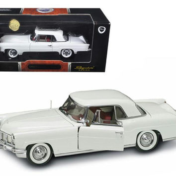 1956 Lincoln Continental Mark II White 1-18 Diecast Model Car by Road Signature