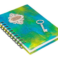 Wire Bound Spiral Bound Journal - Key to My Heart - Ready to Ship