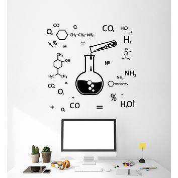 Vinyl Wall Decal Chemical Formula Science Class Laboratory Stickers Mural (g1812)