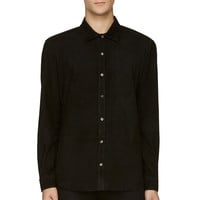 Blk Dnm Black Suede Button-up Shirt