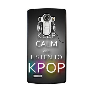 keep calm and listen kpop lg g4 case cover  number 2