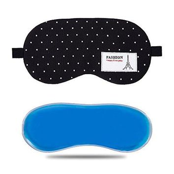 VCGEO Sleep Mask,Hot & Cold Therapy for Insomnia, Puffy Eyes & Dark Circles,Black