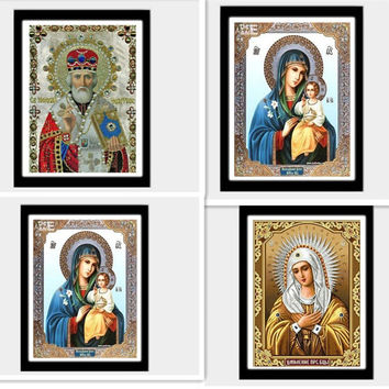 Mosaic 5D DIY Diamond Painting Religious Icon Home Decoration Diamond Embroidery Classic Style Full Square Rhinestone Painting