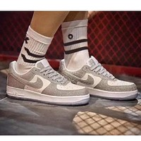 Nike Air Force1 low 07 new fashion couple reflective low-top casual sneakers