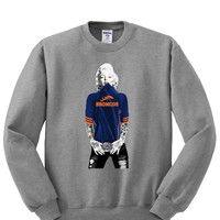 Marilyn Monroe Broncos Sweatshirt Sports Clothing