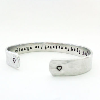 Daughters Gift, Girls Gift, Teens Gift, Gift Ideas, Always and Forever My Baby, You'll Be Cuff Bracelet
