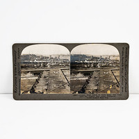 Keystone Stereoview WWI German Troop Transport Ships Seized The Vaterland in New York