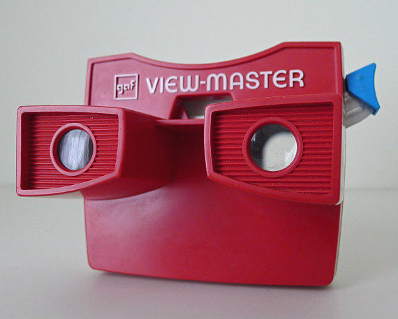 Toys That Were Made In The 1970 : Vintage viewmaster red white and blue from