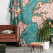 4040 Locust Ocean Current Tapestry- Green One