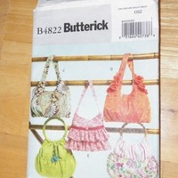Butterick B4822 Embellished Handbag Pattern Used