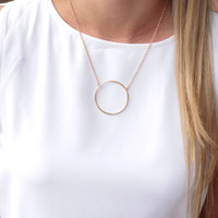 The Dainty Circle Necklace