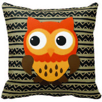 Owl and Pattern Mix & Match Pillow #19