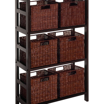 Leo 7Pc Shelf & Baskets, 1 Shelf, 6 Small Baskets