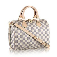 Authentic Louis Vuitton Speedy Bandoulière 25 Cross Body Leather Handles Bag Article: N41374  Louis Vuitton Handbag