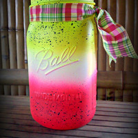 Hot Pink Highlighter Neon Ball Mason Jar