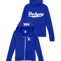 Los Angeles Dodgers Bling Full-Zip Hoodie - PINK - Victoria's Secret