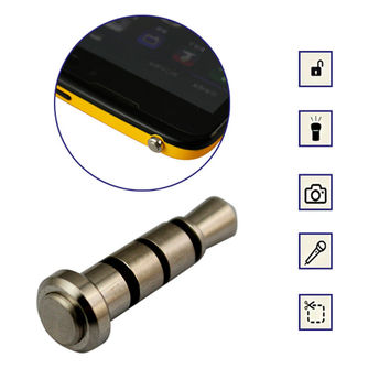 3.5mm Smart iKey klick Quick Button Anti Dust Plug for Android 4.0 Smart cell Phone Tablet PC