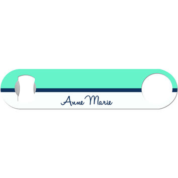 Colorblock with Name on Bottom - Personalized Bottle Opener