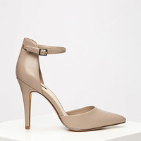 Pointed Ankle Strap Pumps
