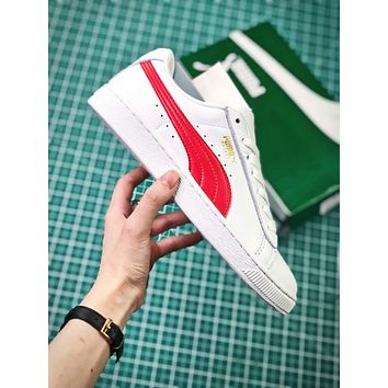Puma Basket Classic White Red Sneakers