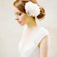 Wedding, Bridal Headpiece, Bridal Floral Hair comb, Hair Accessories - Style 327
