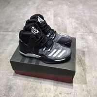 Adidas Rose Women Sport Casual High Help Basketball Shoes Fashion War Boots Sneakers-1