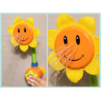 New Baby Bath Toy Children Pool Swimming Toys Sunflower Shower Faucet Shower 0-12 Months Bath Learning Toy Gift Yellow Green