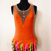 Rhythmic gymnastic / figure skating dress leotard - Tropical - Made to order