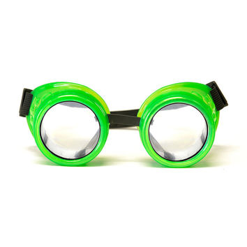 Glow Green Diffraction Goggles