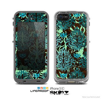 The Delicate Abstract Green Pattern Skin for the Apple iPhone 5c LifeProof Case